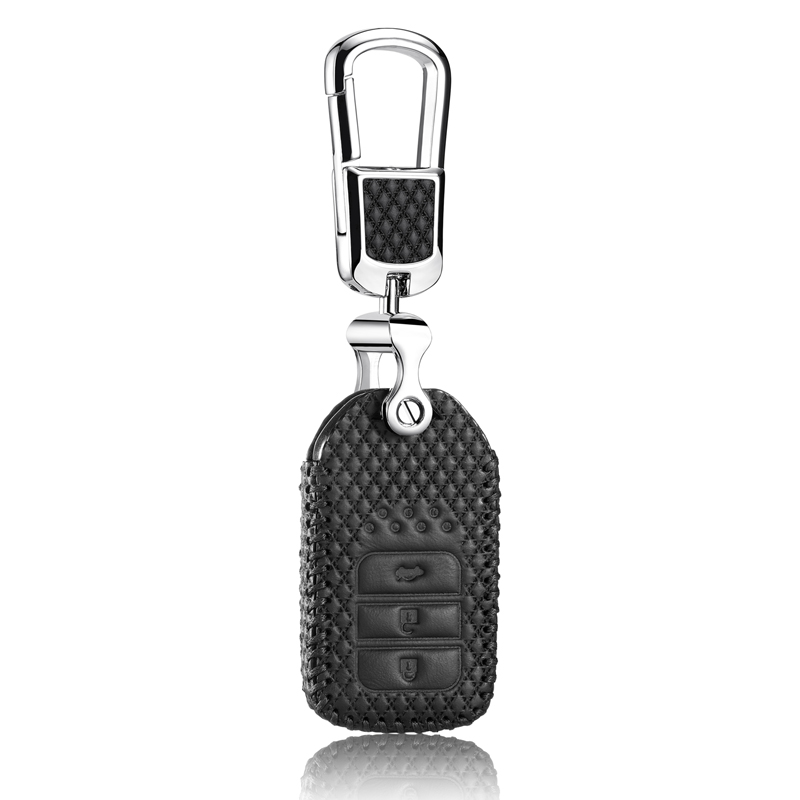 Leather Key Cover for honda greiz 2016 crider 2013 1 8L accord 2014 2 4L3 0L spirior 2015 crv 240 holder case key3 Free shipping in Key Case for Car from Automobiles Motorcycles