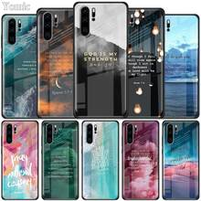 Bible verse Tempered Glass Case for Huawei P30 P40 Pro Plus P20 Lite P Smart 201