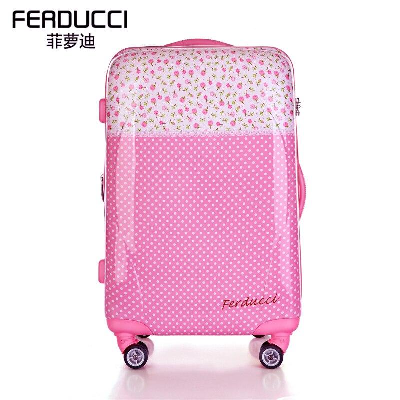 Online Shop Free shipping Ferducci pink rustic 20 universal wheels ...
