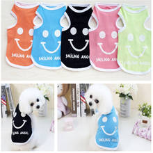 Exquisite Design Small Dog Vest Pet Smile Cute Summer Clothes Polyester Comfortable for your