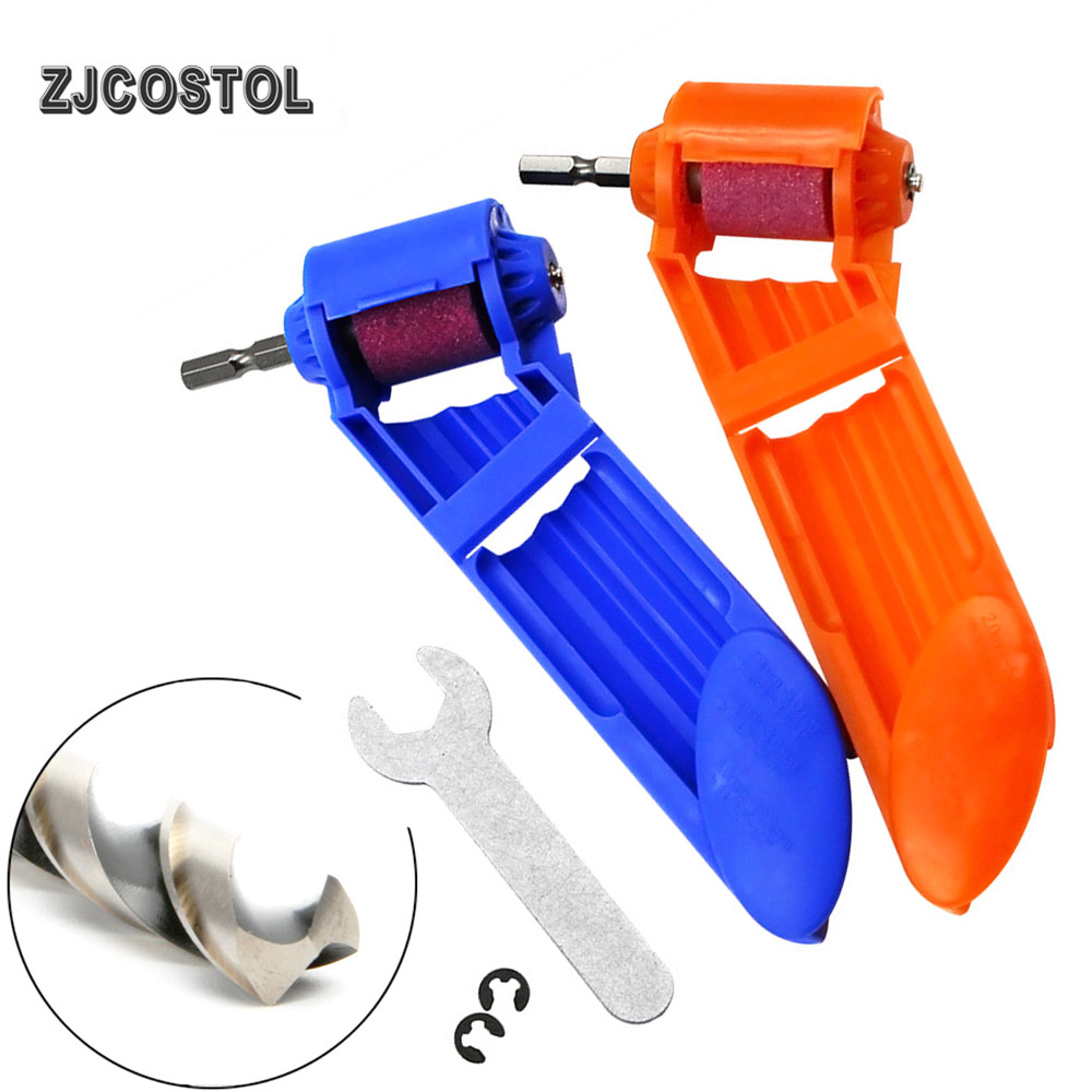 ZJCOSTOL 1set 2-12.5mm Drill Bit Sharpener Corundum Grinding Wheel Drill Bit Sharpener Titanium Sharpening Drill Tool