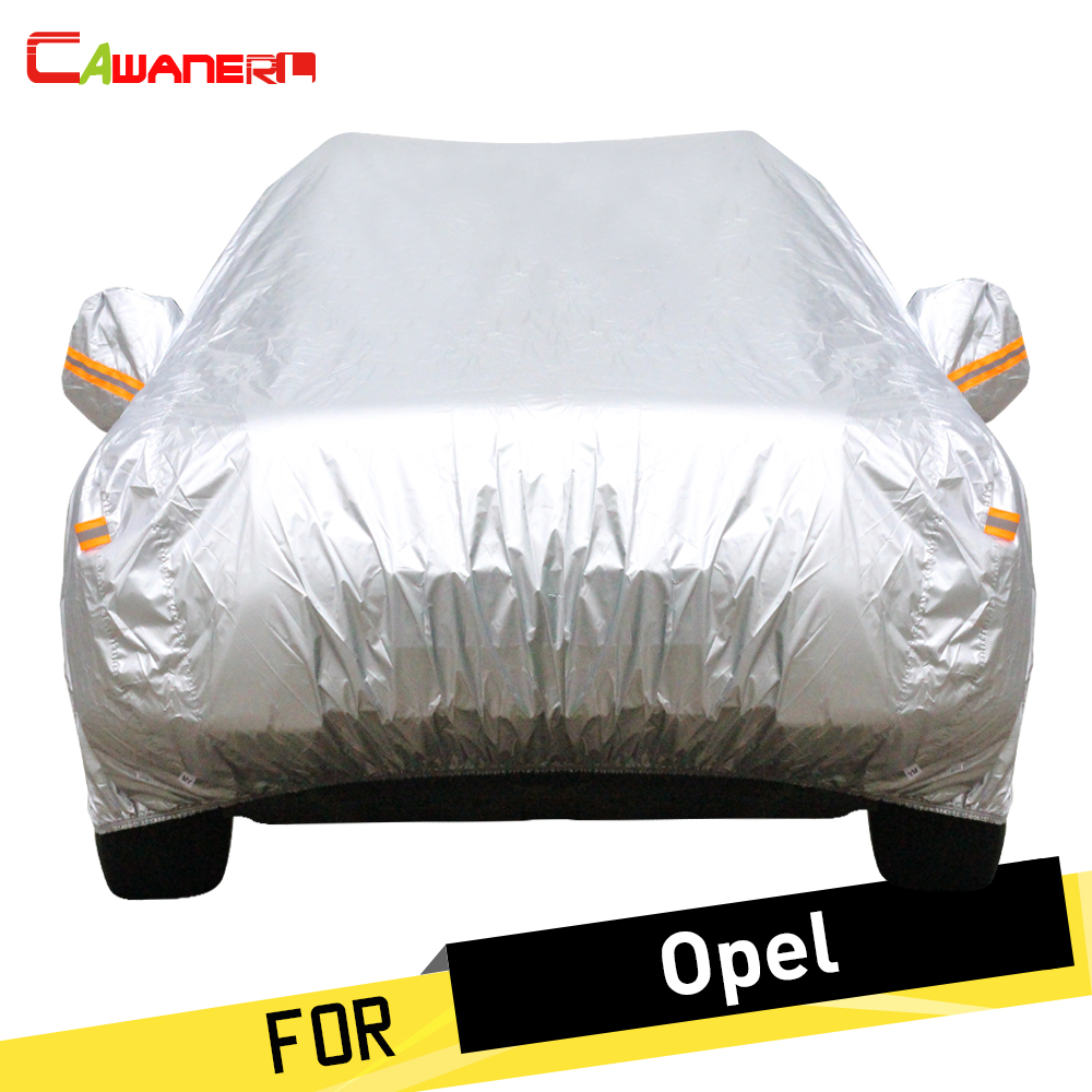 Cawanerl Car Cover Sunshade Anti UV Rain Sun Snow Resistant Car Covers Dust Proof For Opel