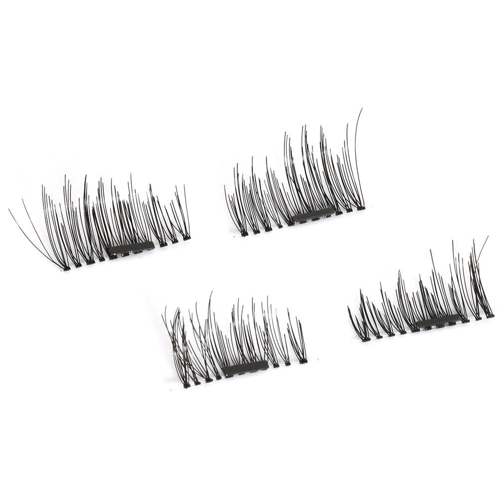 3D Magnetic False Fake Eyelashes Extension Handmade 4 Pcs/Pairs Eye Beauty Makeup Accessories Soft Natural Hair False Eyelashes