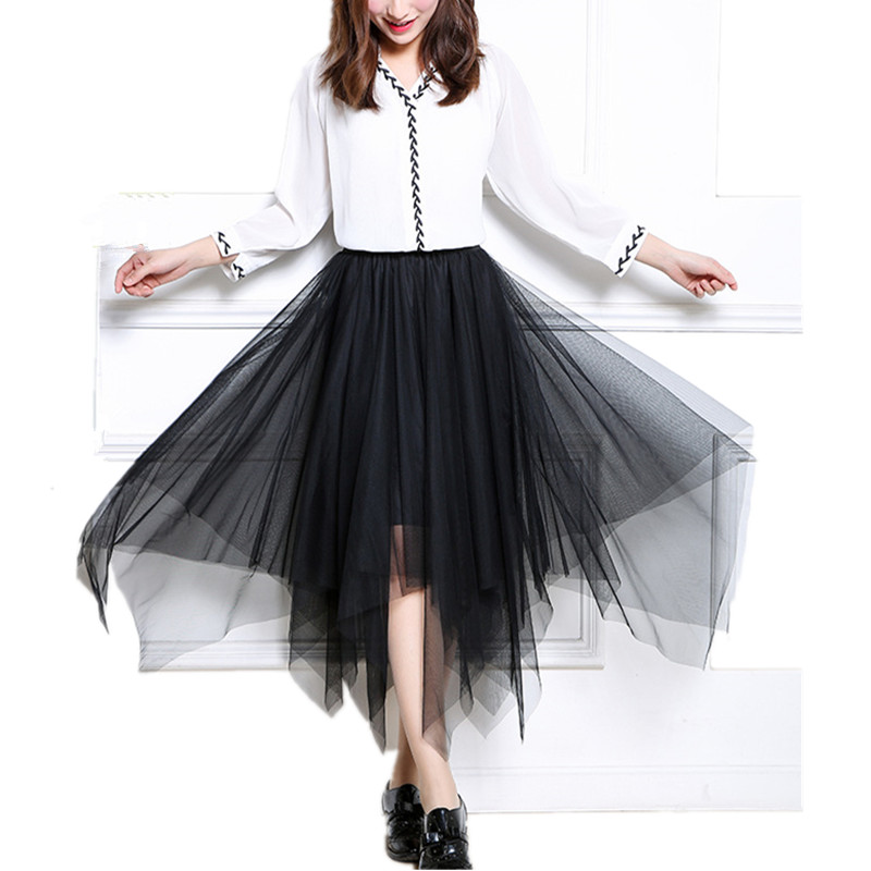 Popular Black Ruffle Skirt-Buy Cheap Black Ruffle Skirt lots from ...