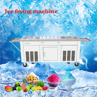 Commercial Gelato Roller rolling roll fried dish machine for double cream 2pan roll roller pan gelato ice cream machine