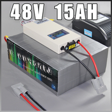 48V 15Ah LiFePO4 Battery Pack , 800W Electric Bicycle Battery + BMS Charger 48v lithium scooter electric bike battery pack
