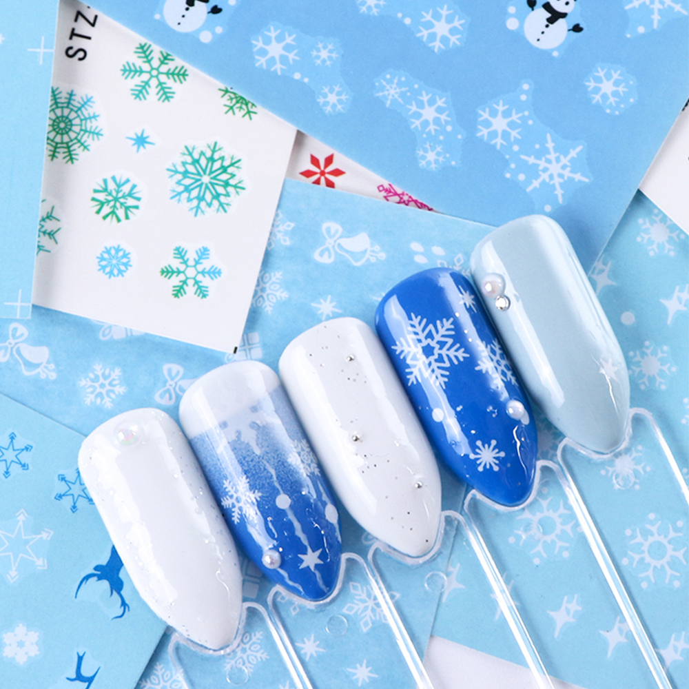 Nail Art Sticker New Year , Tattoo Christmas Water Decal  3