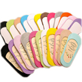 7pairs/lot Fashion Peds&Liners Sock Hot Womens Slippers Solid Cotton Sneakers Invisiable Heel Pain Soft Gel Rubber sapatos