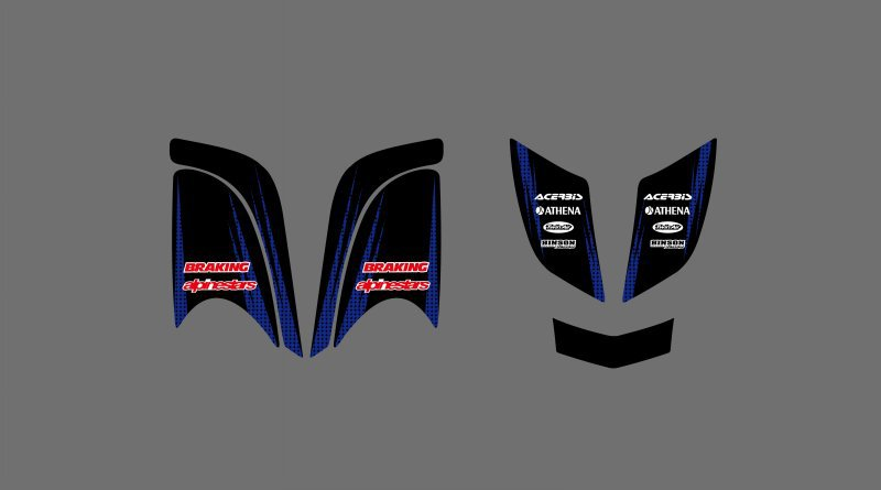 0339 Simple Wind New Style DECALS STICKERS Graphics Kits For Yamaha RAPTOR 660 ATV Raptor660