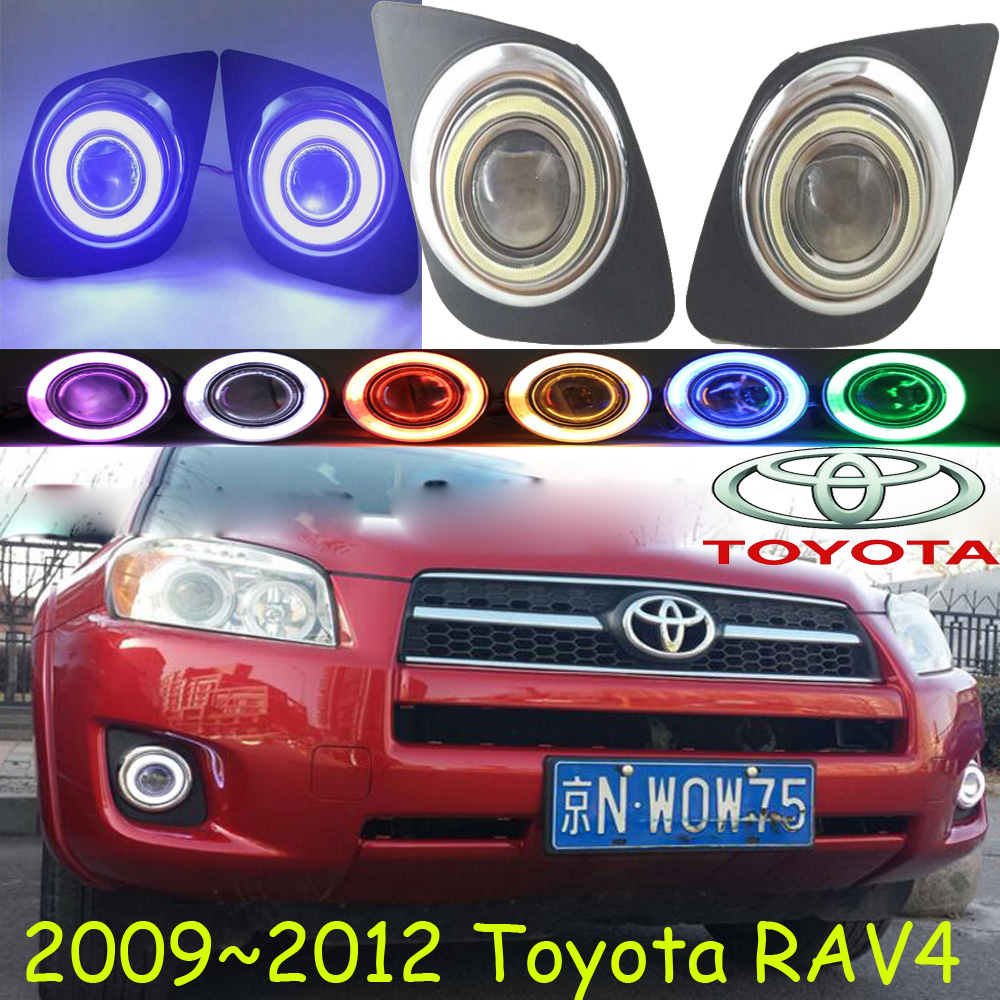 Car-styling,RAV4 fog lamp,2009~2012,chrome,Free ship!2pcs,RAV4 head light,car-covers,Halogen/HID+Ballast;RAV4 car styling rav4 taillight 2009 2012 led free ship 4pcs set rav4 fog light car covers chrome car detector rav4 tail lamp rav 4