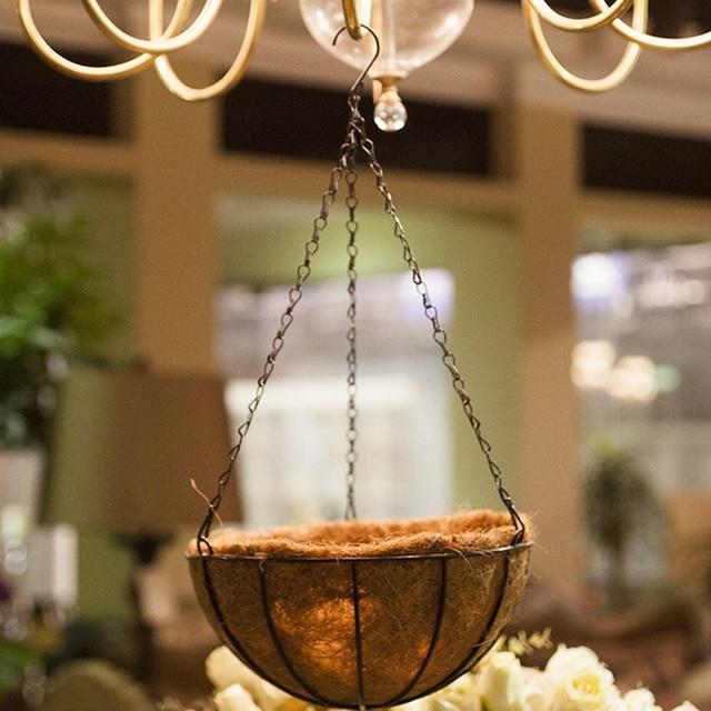 Garden Home Decoration Metal Hanging Flowerpot Planter Basket Indoor