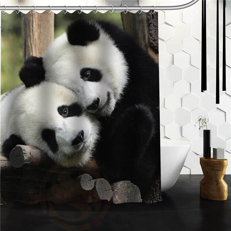 Custom Lovely Panda Shower Curtain Bathroom Products Creative Polyester Home Product In Curtains From Garden On
