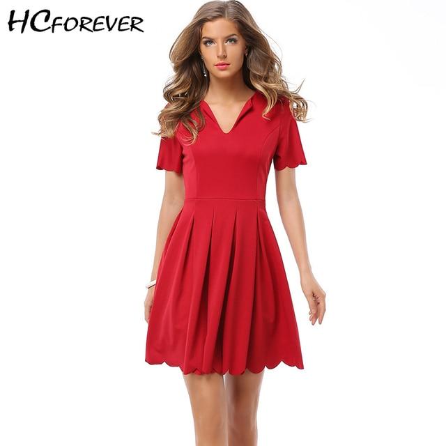 50s 60s Vintage Dress Women White Mini Skater Dresses Red Elegant Work  Office Lady Dress Formal Wave Hem New Arrival High-end a65aaac3e9