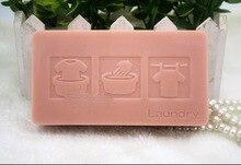 Силиконовые формы квадратной формы мыло для Стирки ручной пищевой силикон мыло плесень