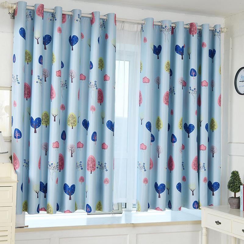 unid cortina corta media sombra cortinas para el dormitorio de lujo moderno nios rbol de
