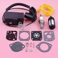 Ignition Coil Spark Plug For Stihl FS100 HL100 HL95 KM90 KM100 HT100 Carburetor Fuel Filter Line Repair Kit Trimmer Replace Part