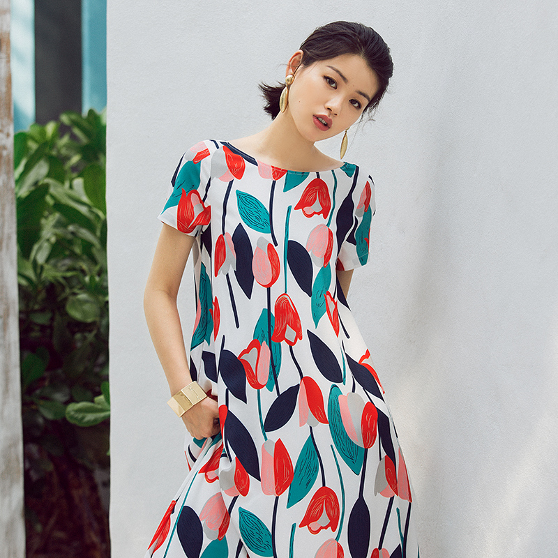 b28ccee3b0a VERRAGEE Summer A line Printed Maxi Dress Women 2018 New Brand Floor length  female loose printing holiday long dress-in Dresses from Women s Clothing  on ...