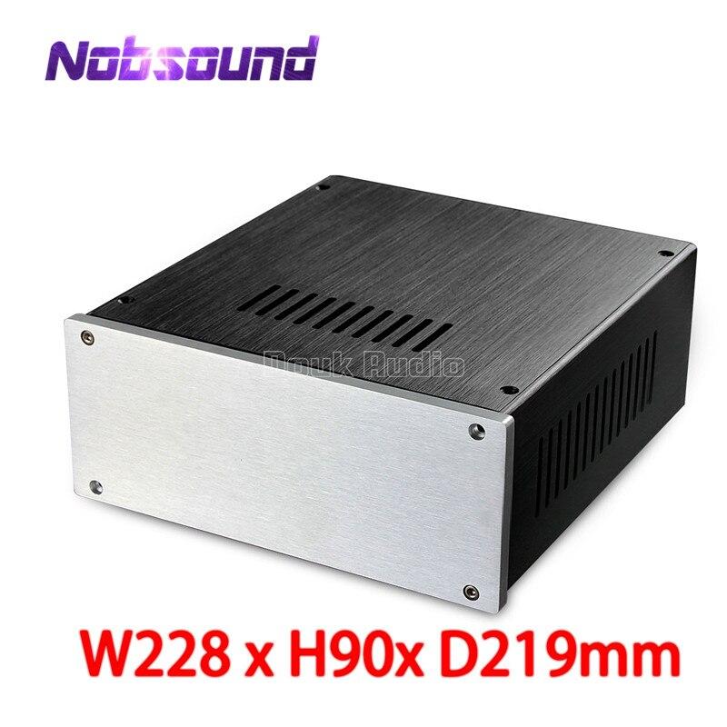 Nobsound Small Aluminium Enclosure Amplifer Case DIY Chassis (W228*H90*D219mm)