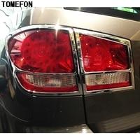 For Dodge Journey JCVU JC For Fiat Freemont 2012 2013 2014 ABS Chrome Plastic Rear Tail Light Lamp Cover Trim 4PCS Lamp Hoods