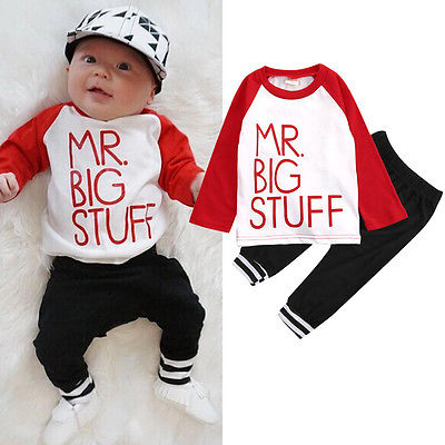 2pcs!!Autumn Spring Newborn Toddler Baby Boys Girls Outfits Long Sleeve Letter Cotton Tops +Black Long Pants Clothes Set baby rompers 2016 spring autumn style overalls star printing cotton newborn baby boys girls clothes long sleeve hooded outfits