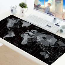 Mouse Pad Old World Map Gaming XXL Mousepad Anti-slip Locking Edge Natural Rubber Gaming Desk Keyboard Mouse Mat Resting Surface