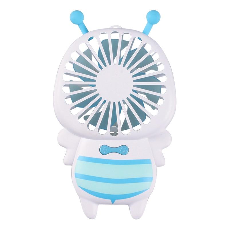 2pcs/lot New small bee fan portable handheld ultra-thin night light Fan USB mini fan with KC certification
