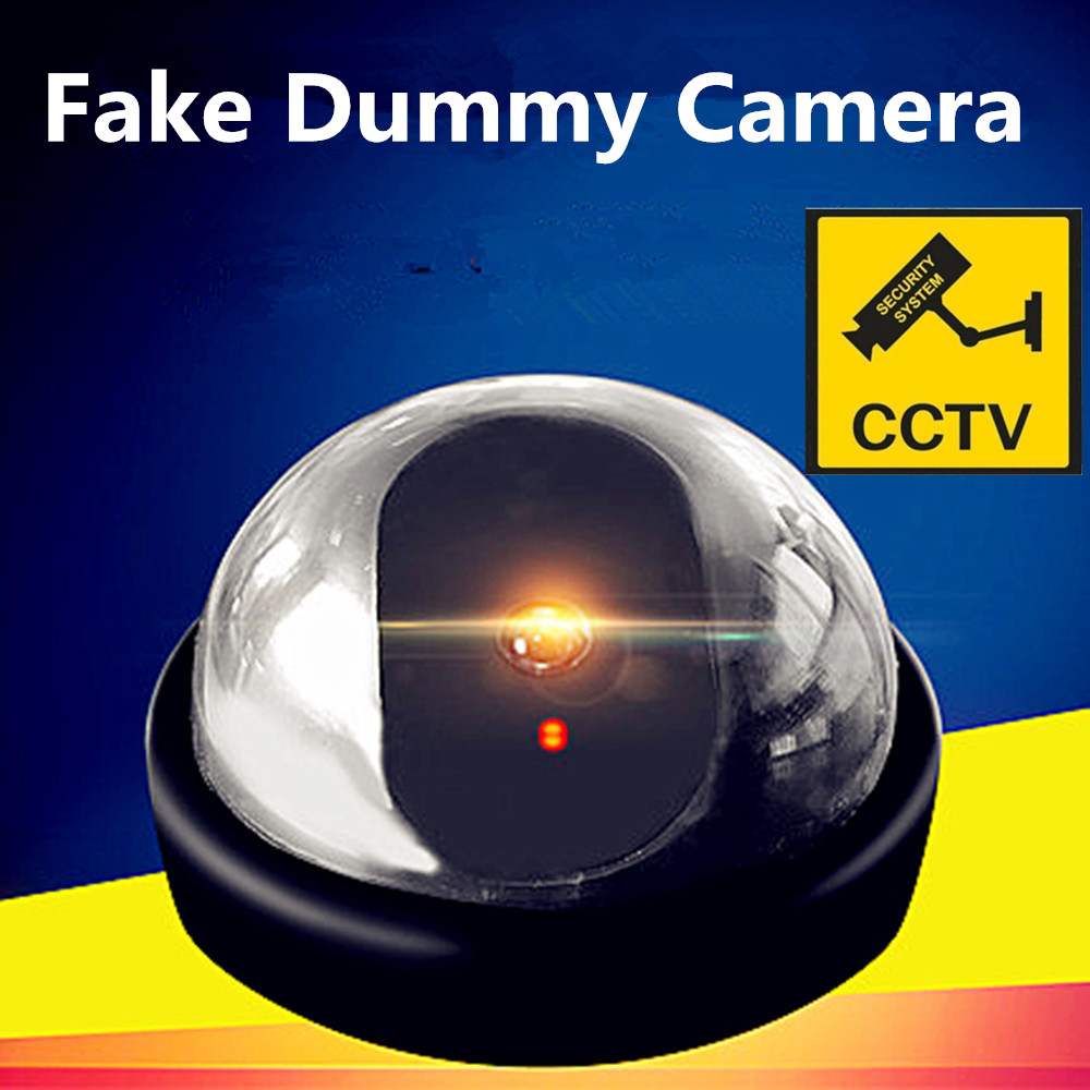 Emulational Fake Decoy Dummy Security CCTV DVR for Home DOME Camera with Red Blinking LED image