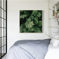 Tropical Rain Forest Plant Green Leaves Mural Nordic Style Home Decoration Murals Canvas Art Painting For