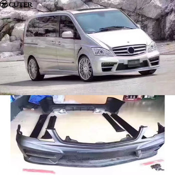 W639 FRP Car body kit Unpainted front Rear bumper Side skirts Fender for Mercedes Benz W639 Viano WALD body kit 06-10