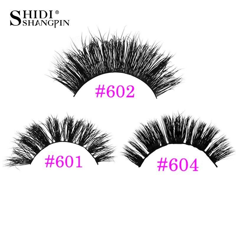 1 Pair/Box thick 3d mink lashes false eyelashes natural long mink eyelashes handmade lash extension makeups maquiagem faux cils