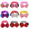 Baby Girl Big Lantejoula Glitter Bow Minnie Mouse Ears Headband do Elástico Acessórios de Cabelo Para Crianças Headwear