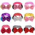 Baby Girl Big Sequin Glitter Bow Elastic Headband Minnie Mouse Ears Hair Accessories For Kids Headwear