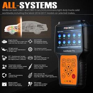 Image 2 - FOXWELL NT644 Pro Automotive OBD 2 skaner resetowanie światła oleju ABS SRS DPF EPB SAS BRT TPS TPMS pełny System samochodowy system OBD narzędzie diagnostyczne