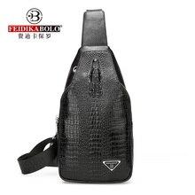 Crocodile Pattern Leather Men's Chest Bags Fashion Classic