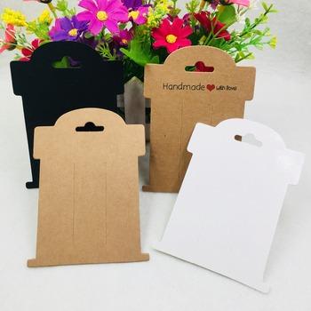 20 sztuk partia 11x8cm Kraft klipsy do włosów karty do pakowania spinka do włosów biżuteria karty do pakowania włosów akcesoria tanie i dobre opinie Thsshareopts Przypadki i wyświetlacze Hairpin Packaging Cards 11cm Papier Opakowanie i wyświetlacz biżuterii Jewelry Packaging Cards