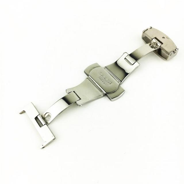16/18/20/22mm Luxury High quality Stainless Steel Butterfly Push Button Deployme