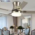 Деревянный потолочный вентилятор BOCHSBC  американский простой современный вентилятор для гостиной  столовой  с дистанционным управлением