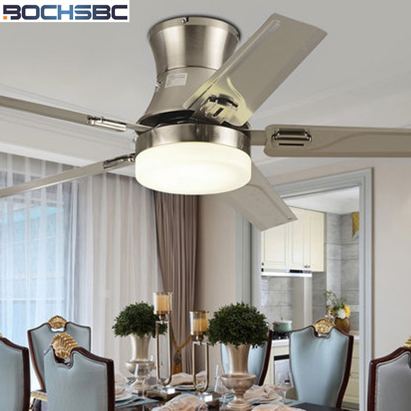 Us 280 45 29 Off Bochsbc Wooden Art Ceiling Fan Light American Simple Modernfan For Living Room Dining Decoration With Remote Control In