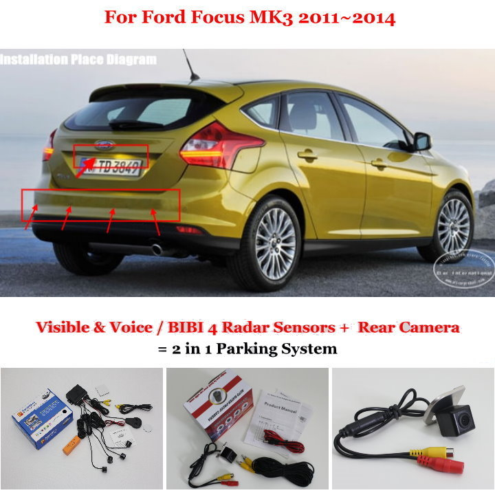Liislee For Ford Focus MK3 2011~2014 - Car Parking Sensors + Rear View Back Up Camera = 2 in 1 Visual Alarm Parking System jacques lemans часы jacques lemans 42 5a коллекция jl aktion 2017