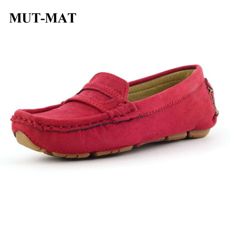 Children Shoes Soft Bottom Flat Fashion Casual Leather Shoes Multi-color Shoes  Hand-stitched Shoes 1-15 Years Old