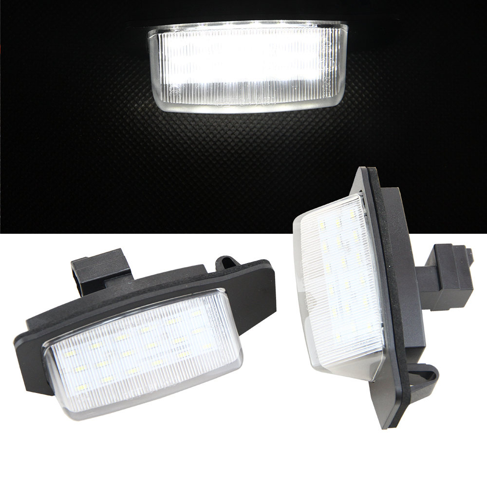 1 Pair Car LED License Plate Lamp For Mitsubishi OUTLANDER 11/2006-8/2009/ OUTLANDER XL(CW) 2006-2012 Auto Part accessories for mitsubishi outlander 2005 2006 rear trunk security shield cargo cover high qualit black beige car auto accessories