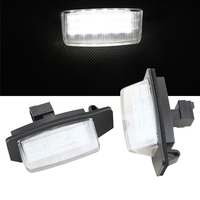 1 Pair Car LED License Plate Lamp For Mitsubishi OUTLANDER 11 2006 8 2009 OUTLANDER XL