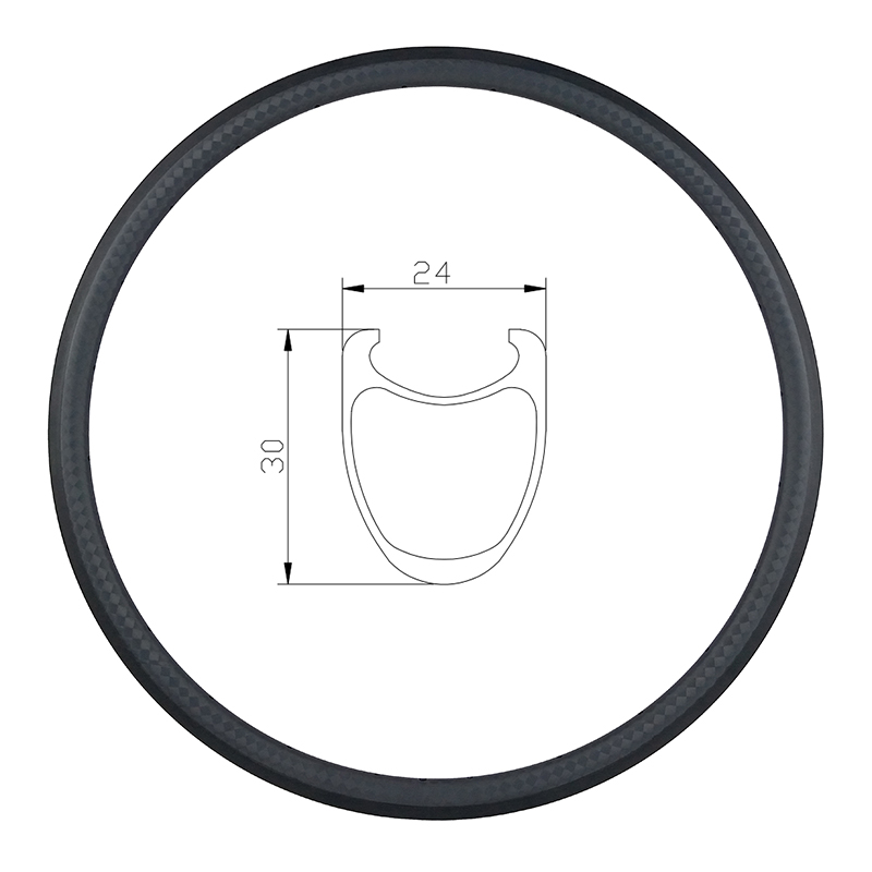 700c 30mm clincher road bike carbon rim 30C 12K matte glossy 12 14 16 18 20