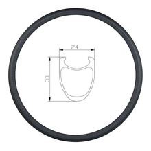 Carbon-Rim-30c Road-Bike Track Clincher 700c Glossy 24mm Wide 30mm 32 12K 12-14-16-18-20-21-22