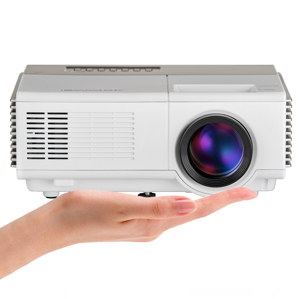 CAIWEI font b Portable b font Mini LED Projector WiFi Android Video LCD Proyector Home Theater