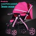 Carro de bebé puede estar sentado en invierno y en verano se puede plegar luz nueva F2