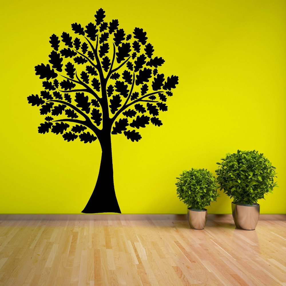 Tree Vinyl Wall Decal Tree With Leaves woodland forest theme Home ...