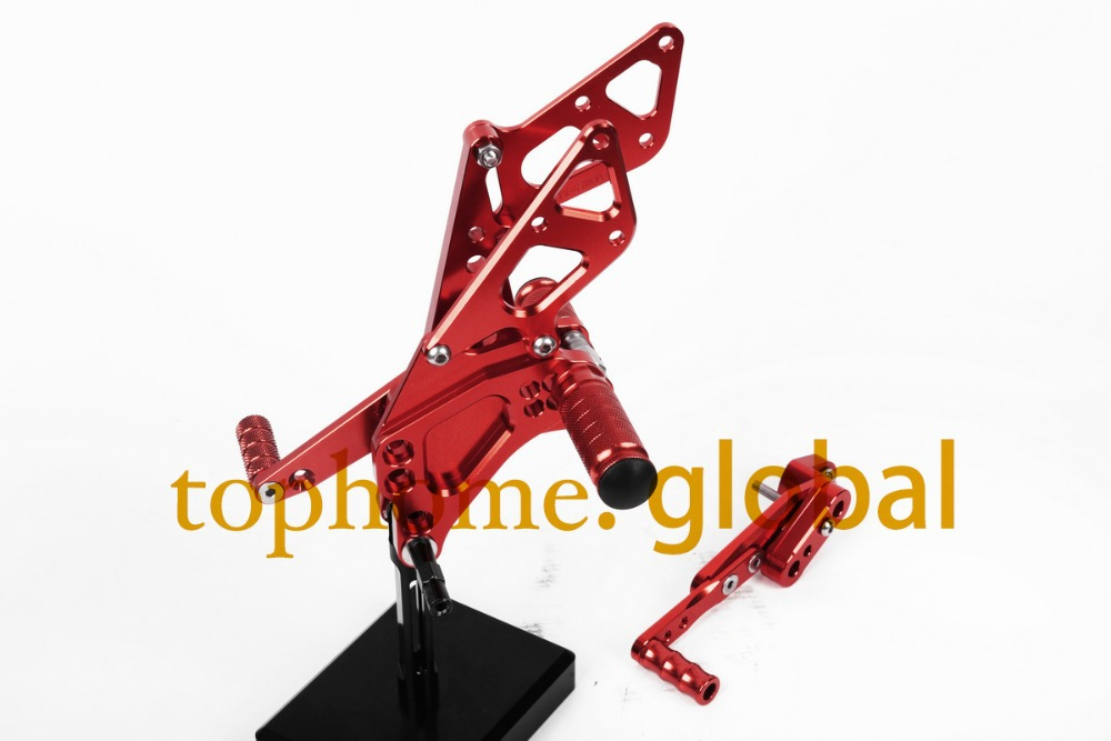 Free Shipping Motorcycle Red CNC Rearsets Foot Pegs Rear Set For Suzuki GSX1000R 2009-2014 2010 2011 2012 motorcycle foot pegsFree Shipping Motorcycle Red CNC Rearsets Foot Pegs Rear Set For Suzuki GSX1000R 2009-2014 2010 2011 2012 motorcycle foot pegs