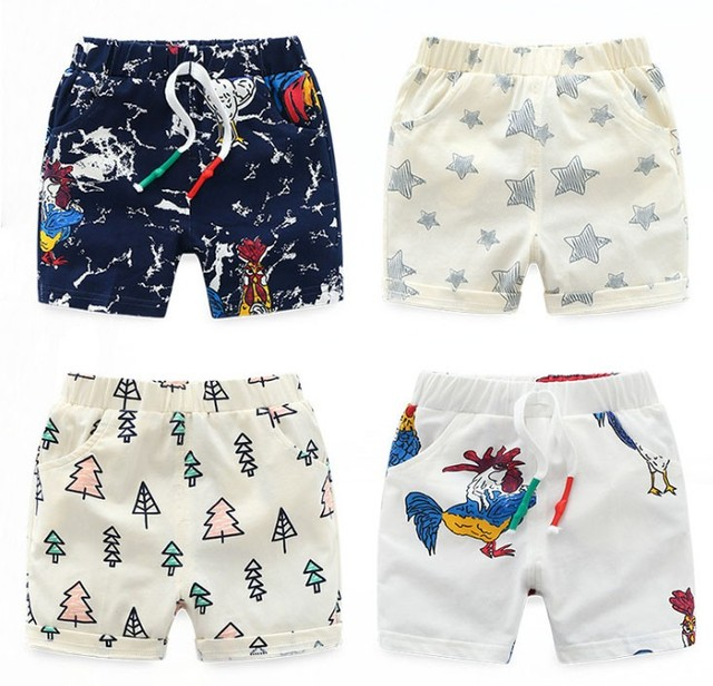 Newly 5 color kid boy lovely cartoon print 100% cotton toddler ...