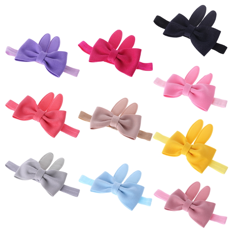 Baby Headband Newborn Hair Band Cute Bowknot Rabbit Ear Girls Princess Headdress-M18